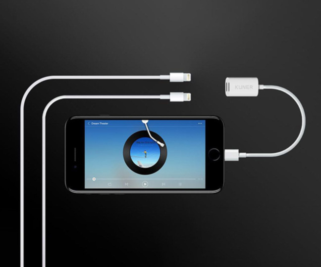 KUNER KUCABLE 2 in 1 Lightning Adapter