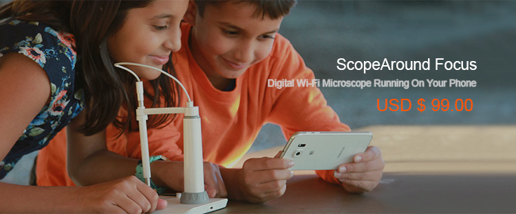 ScopeAround Focus Wi-Fi Microscope Camera