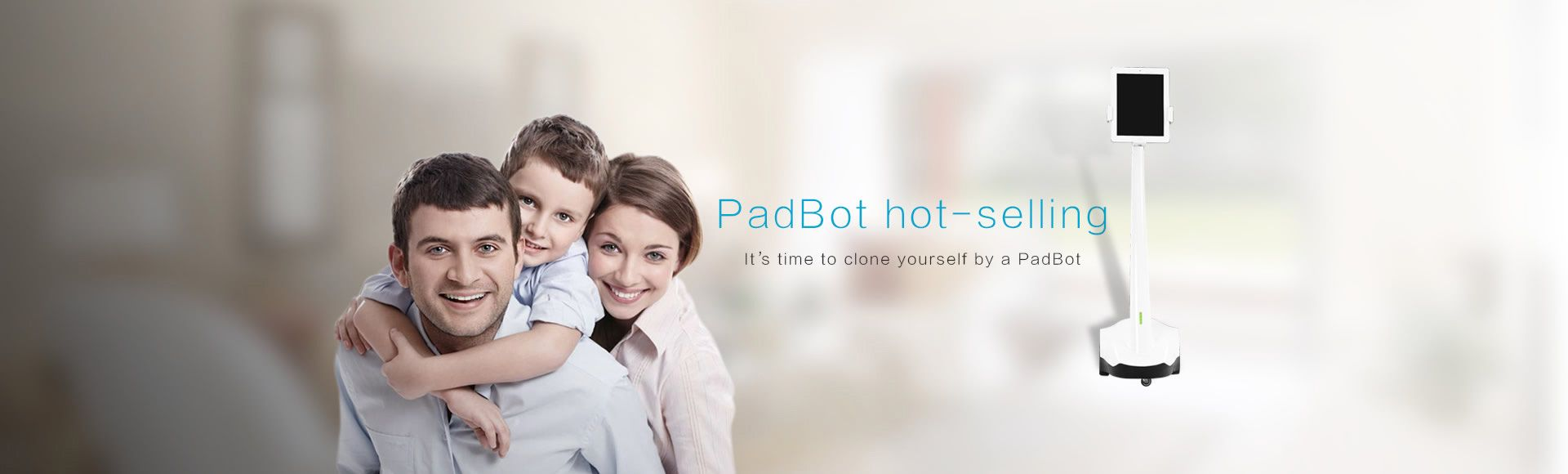 PadBot U Smart Telepresence Robot - Remotely Control via Internet to do a Video Chat Support iPad iPhone Andriod