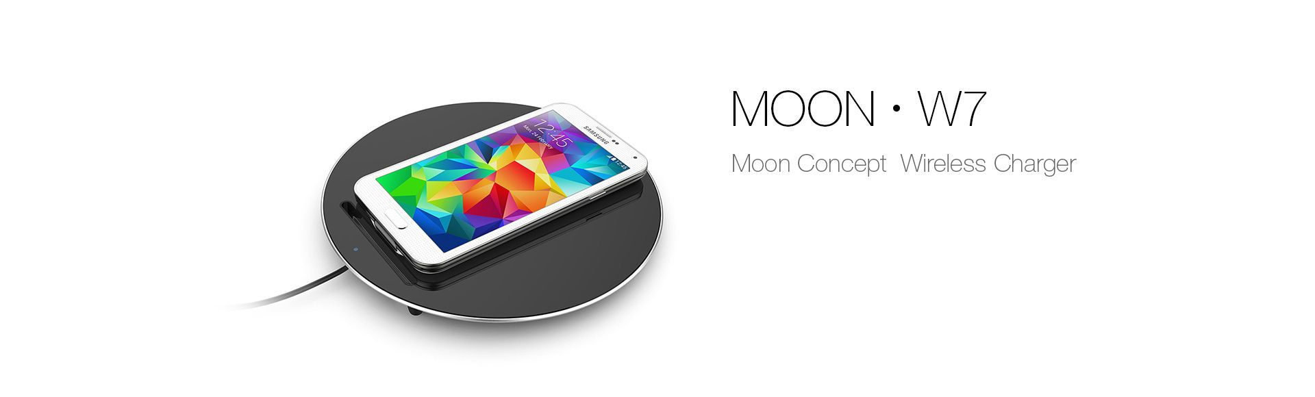 MOON W7 Wireless Charger Charging Pad - Original for Samsung Galaxy S6 S7 edge Note 5 for iPhone 6 6S 7 Plus 5 Stand Phone Charger