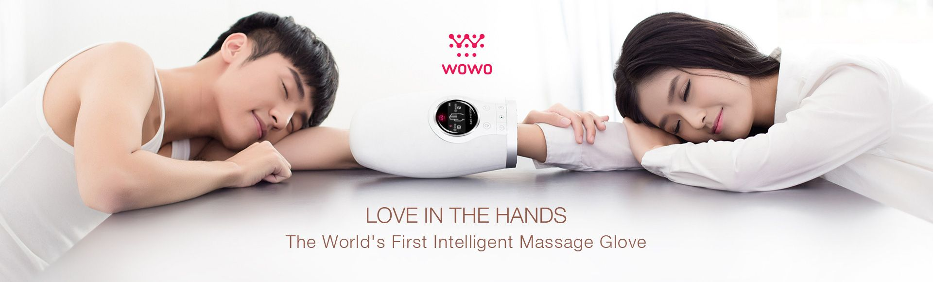 Breo WOWO Smart Hand Massager - Hand reflexology, WOWO APP control,Rechargeable hand palm massager digital therapy