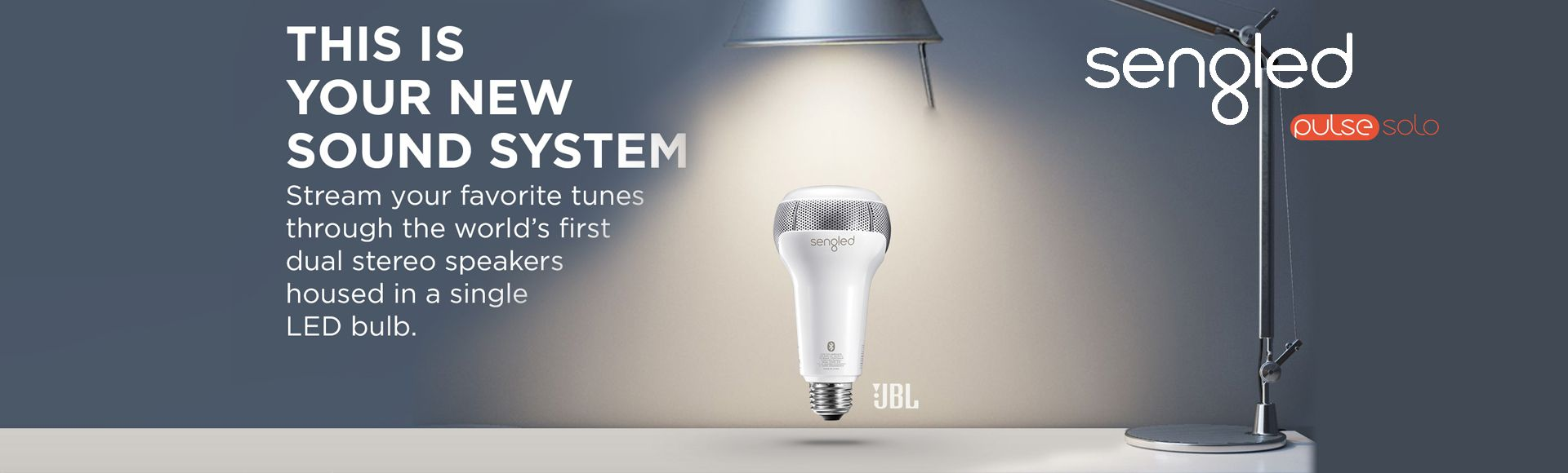 Sengled Pulse Solo - The world's first LED light and dual stereo speakers in one bulb