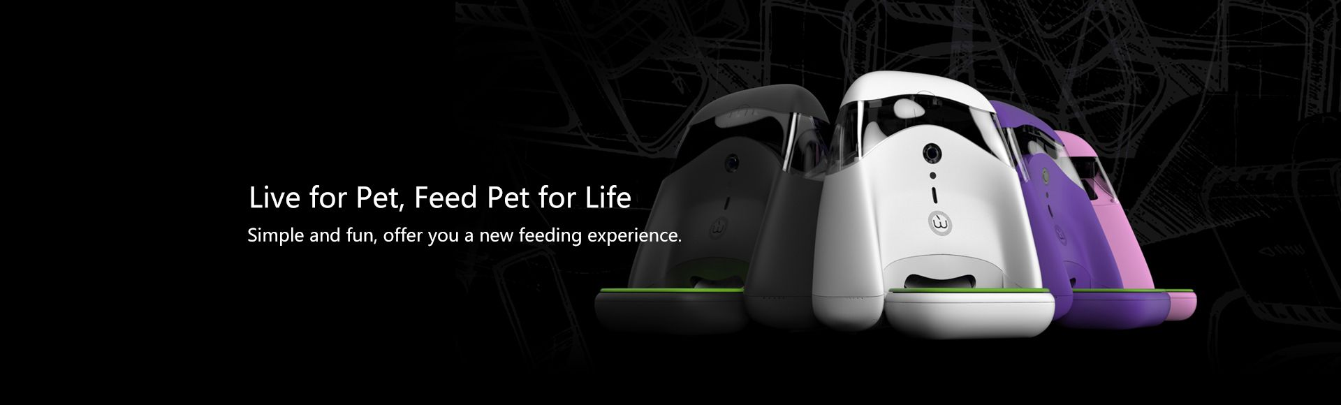 Wangjiao Smart Pet Feeder  - With 1 million pixels HD camera, WiFi connect, Interactive voice response