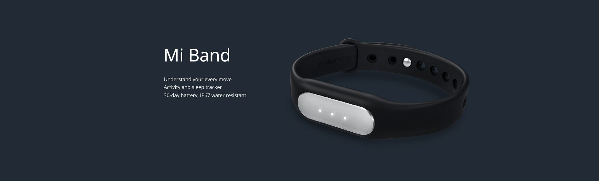 Xiaomi Mi Band 1S - Heart rate pulse sensor Sleep monitor IP 67 waterproof
