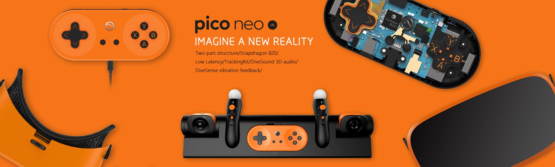 PICO NEO VR -  All-in-one Snapdragon 820 2K 3G 1080P FOV102 Immersive 3D VR Virtua Reality Android Headset Handle