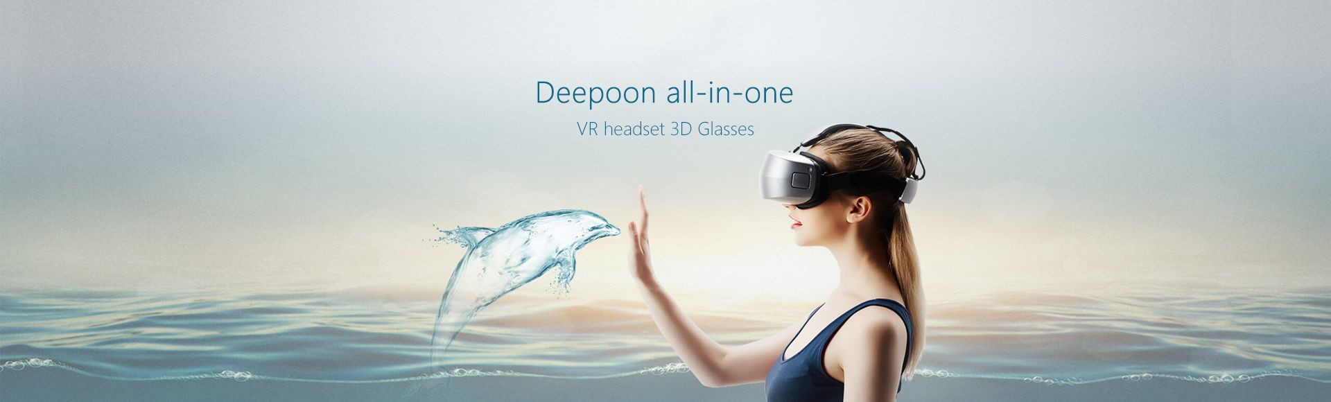Deepoon M2 All-in-one VR Headset -  Virtual Reality 3D Glasses 96 FOV 5.7 Inch 2K AMOLED Display Immersive Game Video Player