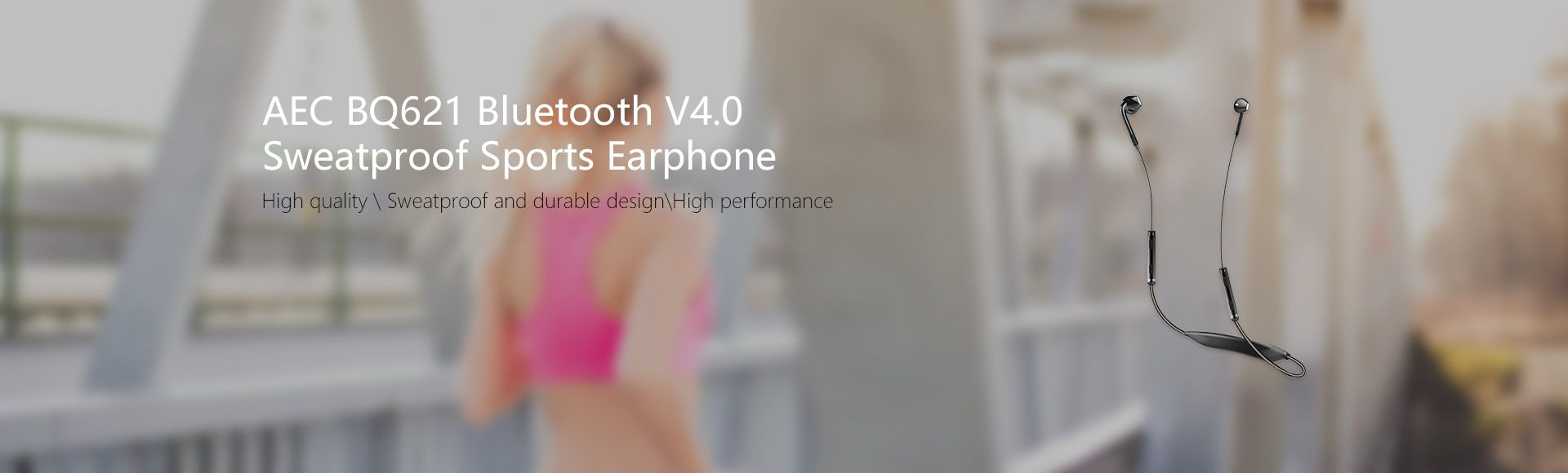 AEC BQ621 Sports Earphone -  Bluetooth V4.1 Sweatproof with NFC Function Fits for Music Mobile Phone calls