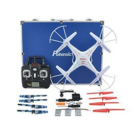 Syma Upgraded X5C-1 RC Quadcopter - 2.4GHz CH 6 Axis Gyro RC Quadcopter with Additional Spare Parts and Carrying Case