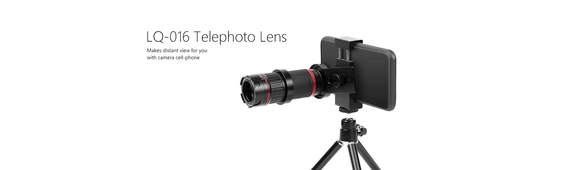 LIEQI-016 Telephoto Lens - 4-12x zoom lens external camera for mobile phone