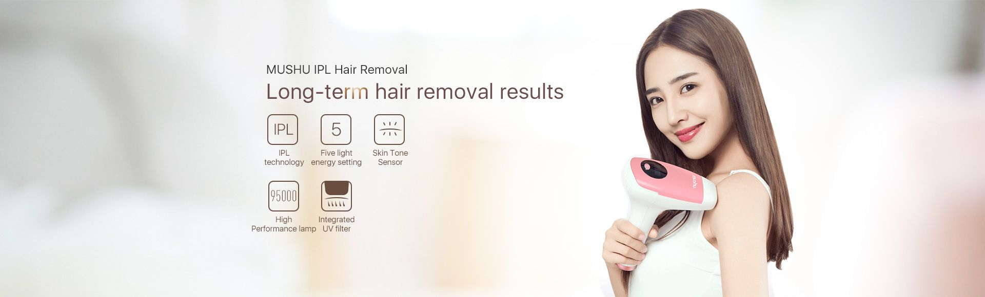 MUSHU IPL Removal - Long-term Hair Removal Results 95000 Flashes