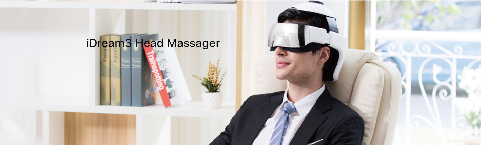 Breo iDream 3 Eye and Head Massager - Rechargeable music head massager, Wireless remote control, Air pressure vibration, Far infrared ray adjustable
