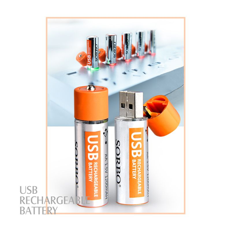 SORBO USB Rechargeable Batteries Lipo AA