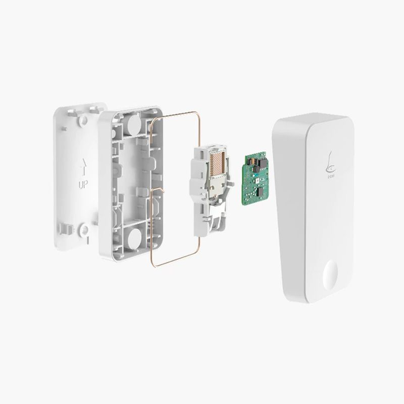 Linbell G4 Self-Powered Wireless Doorbell - No batteries required Easy installation and setting Wireless doorbell multiple chimes