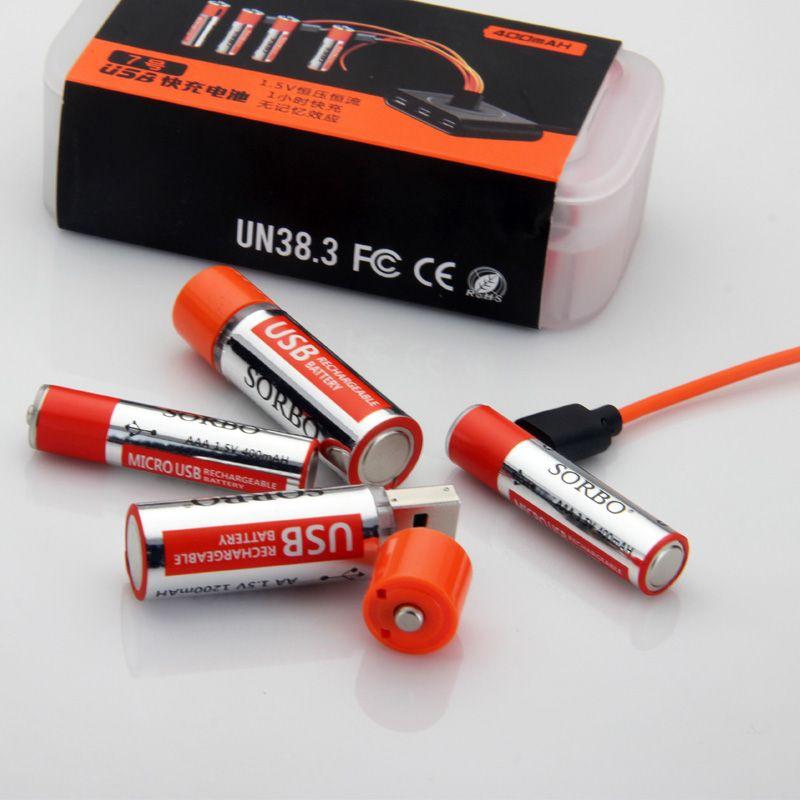 SORBO USB Rechargeable Lipo Battery AA & AAA Suit