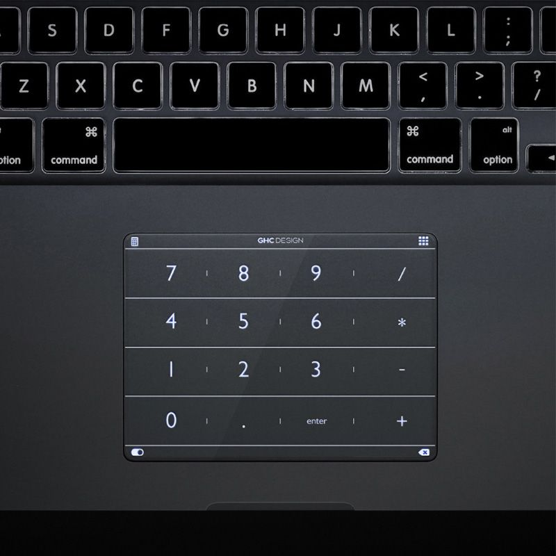 Nums Smart Ultra-thin Keypad - Quickly Enter Numbers for Mackbook Pro \ See-through Buttons for laptop \ Numberpad Protection