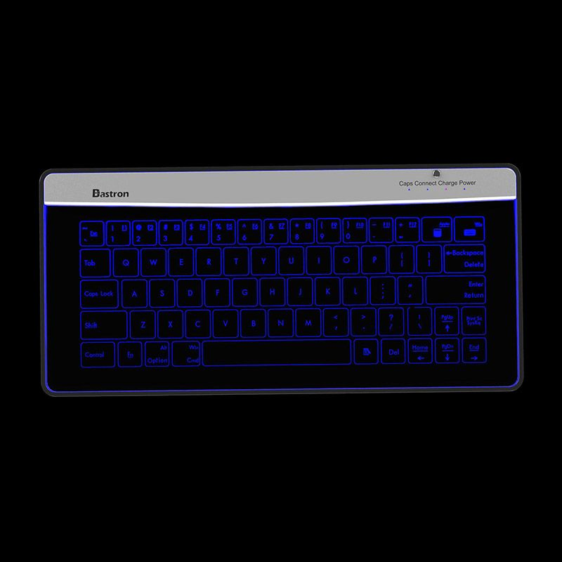 Bastron B9 Wireless Bluetooth Transparent Glass Keyboard