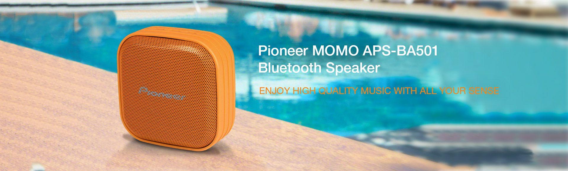 Pioneer MOMO APS-BA501W Bluetooth Speaker  - Passive Loudspeakers Portable IPX-7 Waterproof Outdoor MP3 Speakers for iPhone Android