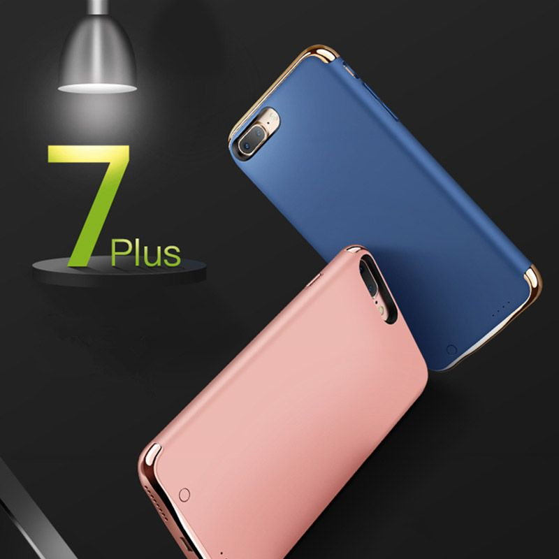 iPhone 7 Wireless 3500mAh Back Clip Battery Charger Case - Power Bank For iPhone 7 7plus Ultra-thin Mobile Phone Protection Case