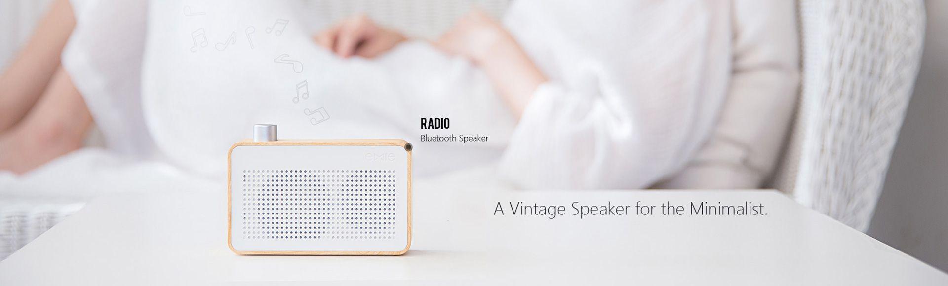 EMIE Radio Bluetooth Speaker - Radio-designed Home Speaker with Super Bass , Works with Apple iPhone , iPad , Samsung and More