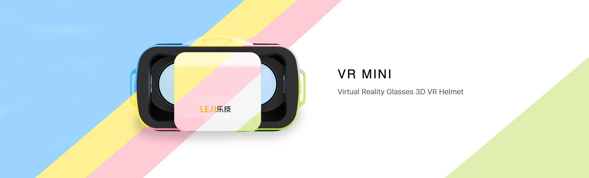 Leji Mini VR Box Virtual Reality Glasses 3D - VR helmet cardboard, Virtual reality gaming headset, For 4.7- 5.5 inches smartphones