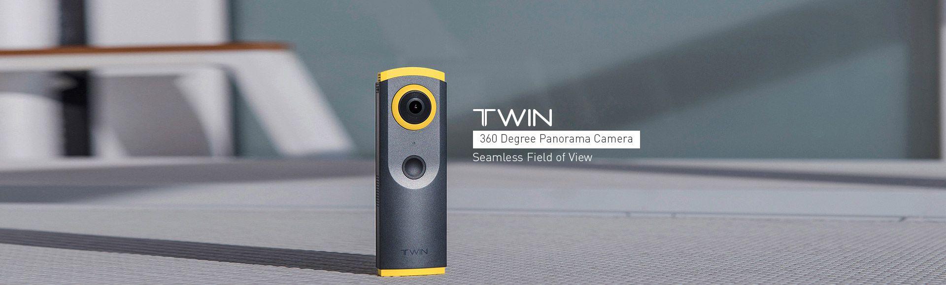 Detu Twin 360° Camera - Panorama Camera Dual Fisheye Lens 3k Video Quality 30FPS Panoramic Live