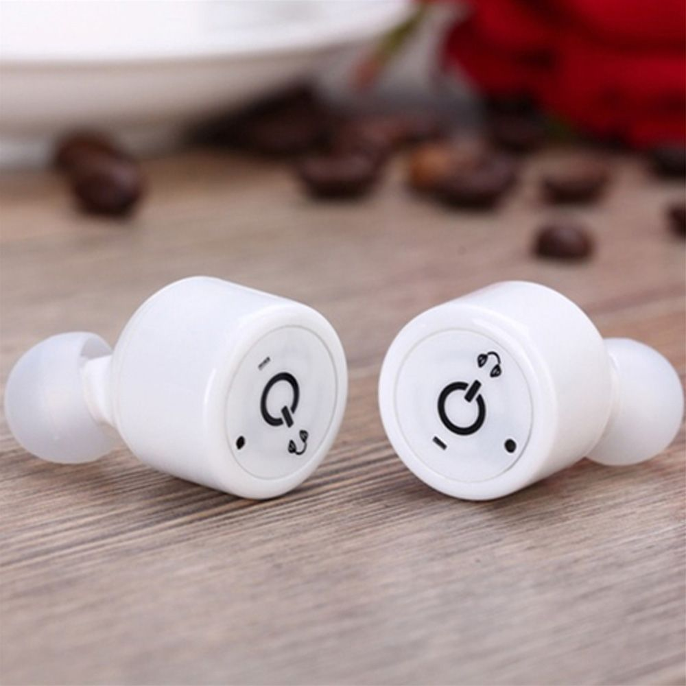 X1T Mini Sport Bluetooth Earphone - Twins True Stereo Two-channel Bluetooth CSR Hifi Headset With Voice Prompt for iPhone Samsung