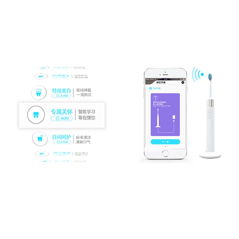 AVORI ONE Smart Sonic Electric Toothbrush - Ultrasonic Whitening Teeth Brush WiFi Connectivity for Adults