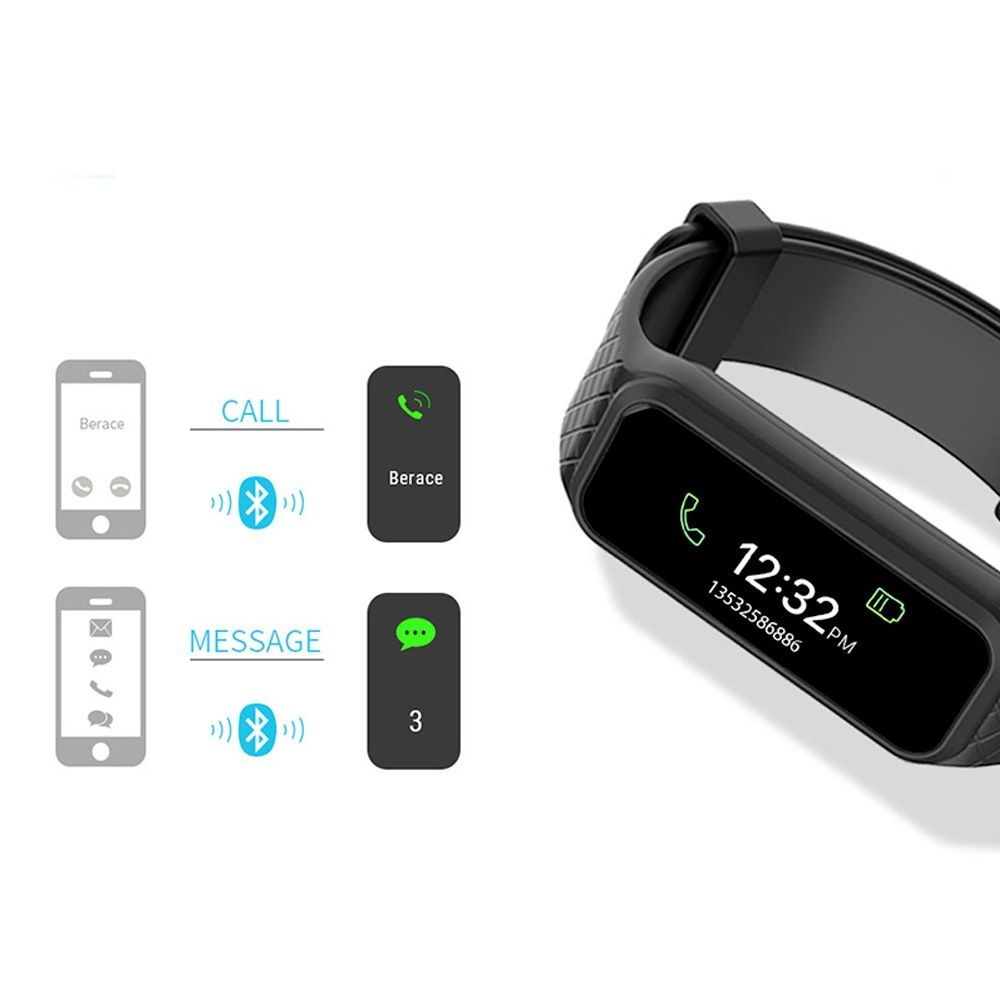 LEMFO L381 Bluetooth Smart Wristband - Dynamic heart rate monitor Full color TFT-LCD screen