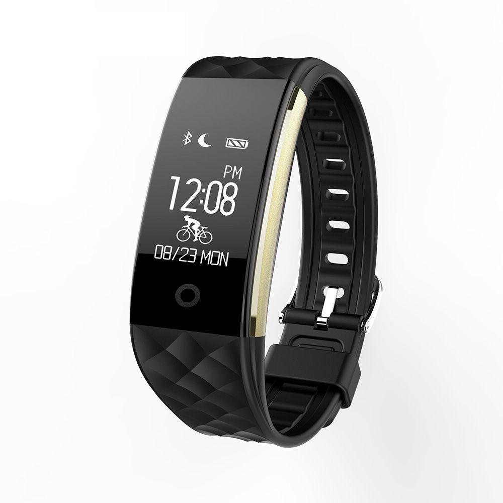 LEMFO S2 Bluetooth Smart Wristband - Sport fitness tracker, Sleep monitor, Plug and charge, Heart rate monitor
