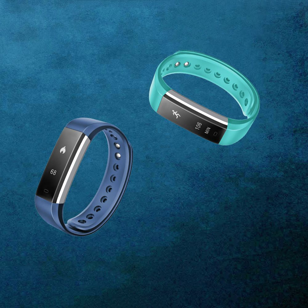 IDO ID 115HR Heart Rate Smart Fitness Band - 24h real time heart rate monitor, Auto sleep monitor, All-day activity track