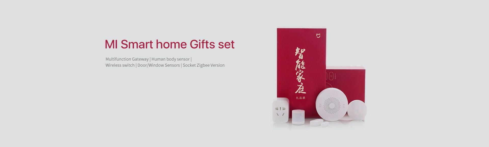 Xiaomi Mi Smart Home Kit - New gateway, Wireless switch, Human body sensor, Socket zigbee version, Door and window sensor