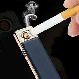 Cigarette USB Rechargeable Electric Lighter -  Windproof no gas flameless lighter with USB charging cable, Less than 1.5 hour quick charge