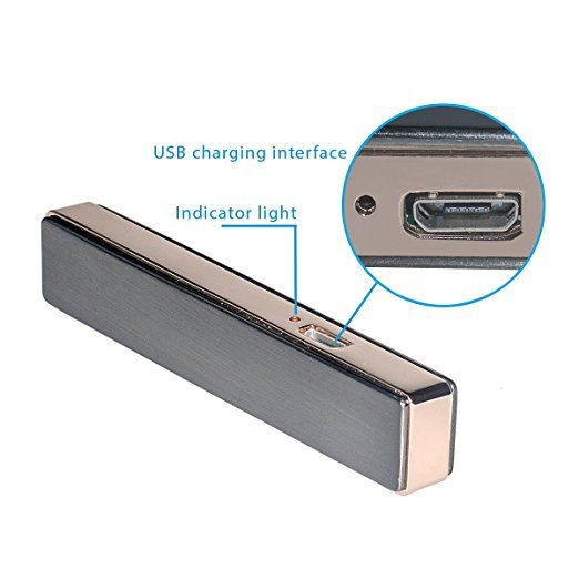 TEQIN Tungsten Electric Lighter - Ultra-thin Metal Ignition Windproof USB Rechargeable Lighter Electric Flameless Coil Cigarette Lighters