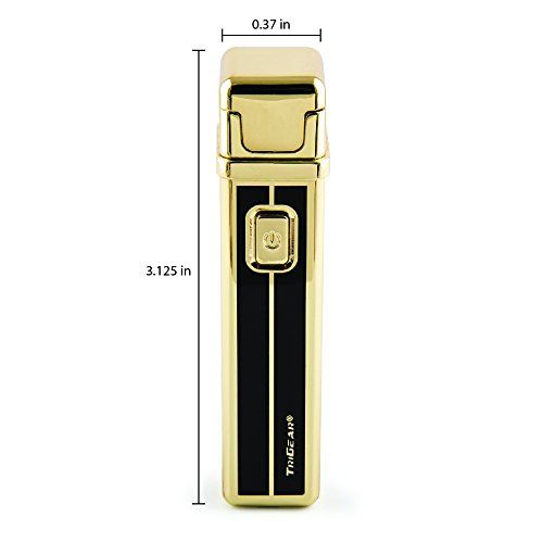 TriGear Elite Series Windproof Lighter - Windproof USB Rechargeable Tower Design Electric Arc Coil Lighter
