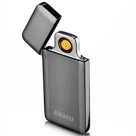 DIKAOU USB Portable Mini Electronic Rechargeable Lighter - Windproof Electronic Flameless Lighter