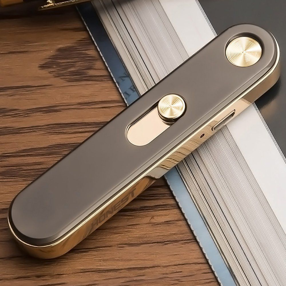 Shiningshopping USB Lighters Metal Rechargeable - Windproof Flameless Electronic coil Cigar Cigarette Lighter No Gas USB Charging Lighters