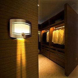 OxyLED T-03 Motion Sensor LED Wall Sconce Night Light - Luxury Aluminum Stick Anywhere