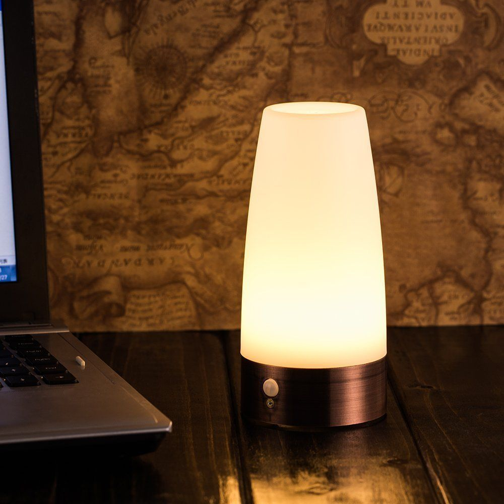 Lamps with night light - Zeefo Retro Led Night Light Wireless Pir Motion Sensor Activated Step Lighting Lamps