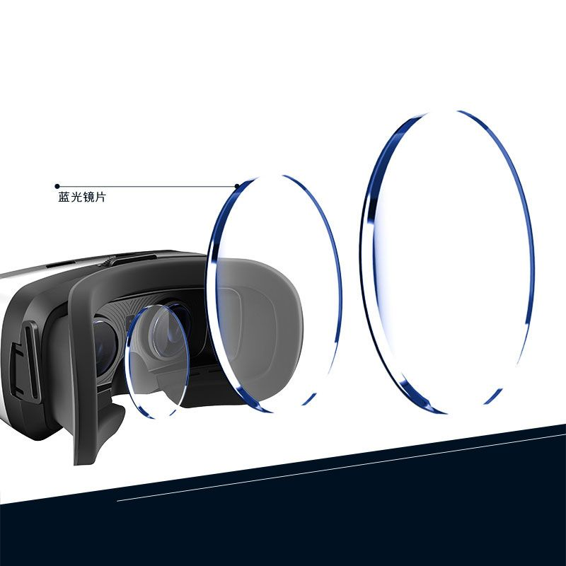 Leji Function Virtual Reality 3D Glasses - FOV96 degrees, IPD adjustable, Support for 5.0 - 6.0 inches smartphones
