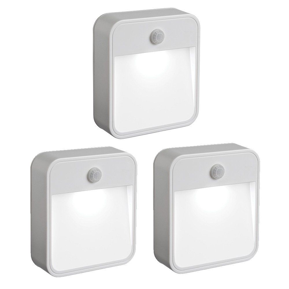 Mr. Beams MB723 Battery-Powered Motion-Sensing LED Nightlight - Stick-Anywhere night light (3-Pack)