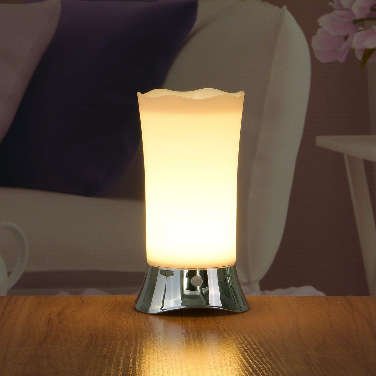 ZEEFO Table Lamps Indoor Motion Sensor LED Night Light - Portable Retro Battery Powered Light for Bedroom, Bathroom, Babyroom, Dining and Reading
