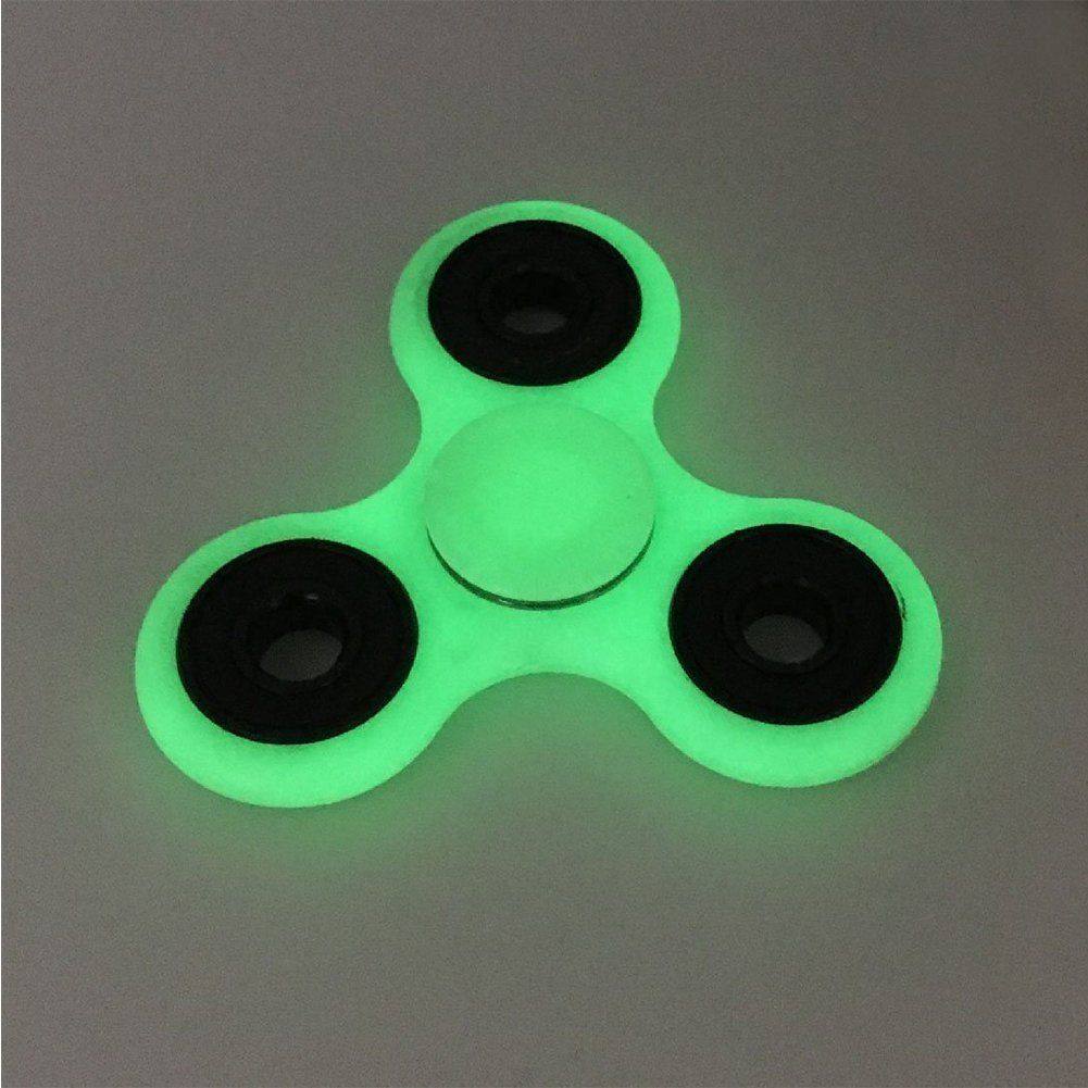 AMILIFE EDC Fidget Spinner Green - High Speed Stainless Steel Bearing ADHD Focus Anxiety Relief Toys