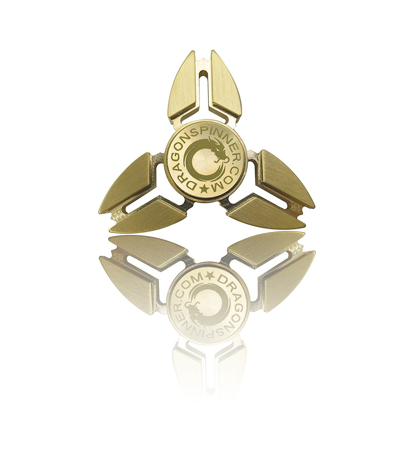 NEW 2017 ORIGINAL DRAGON SPINNER - Trio Brass Metal Hand Fidget Spinner Toy EDC Luxury Helps You Focus And Reduce Stress