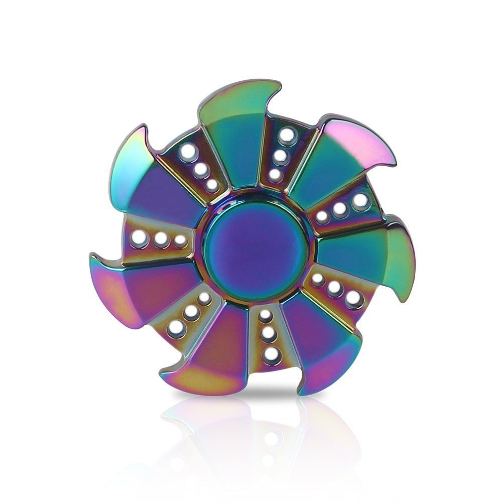 XIRUO Spinner Fidget EDC ADHD Focus Toy - Ultra Durable High Speed 2-5 Min Spins Precision (rainbow)