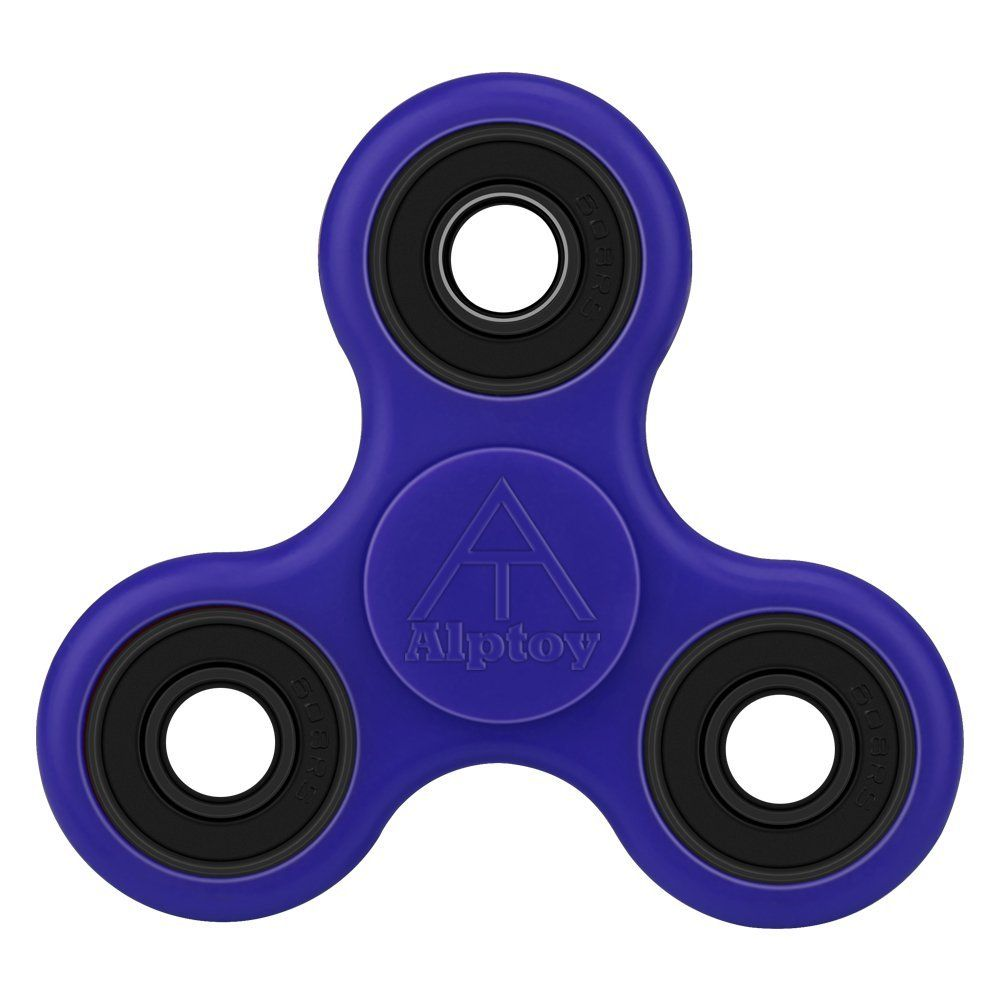 Alptoy Spinner Fidget Toy - With Premium Hybrid Ceramic Bearing-blue