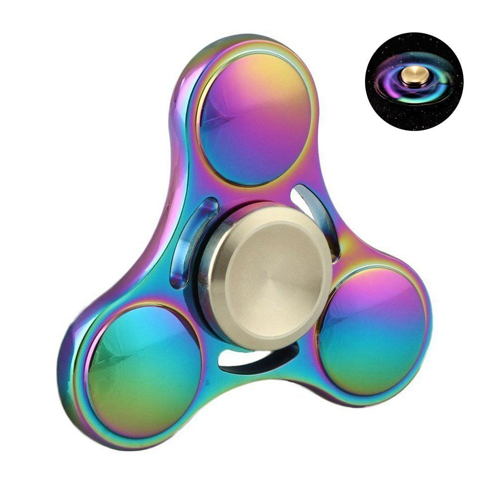 Wiitin Fidget Spinner Toy - Tri Hand Spinner Low Noise High Speed Focus Toy with Stainless Steel