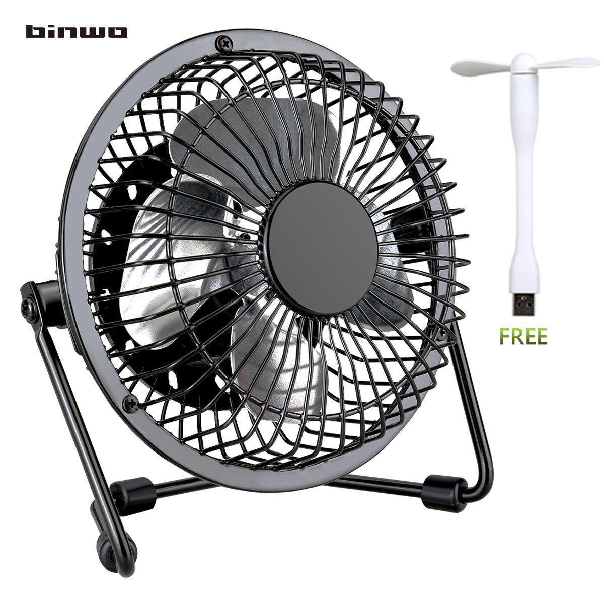 Fan Blade Inuries : Binwo quiet mini desk usb fan portable metal cooling