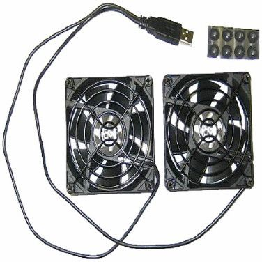 Coolerguys Dual 80mm USB Cooling Fans