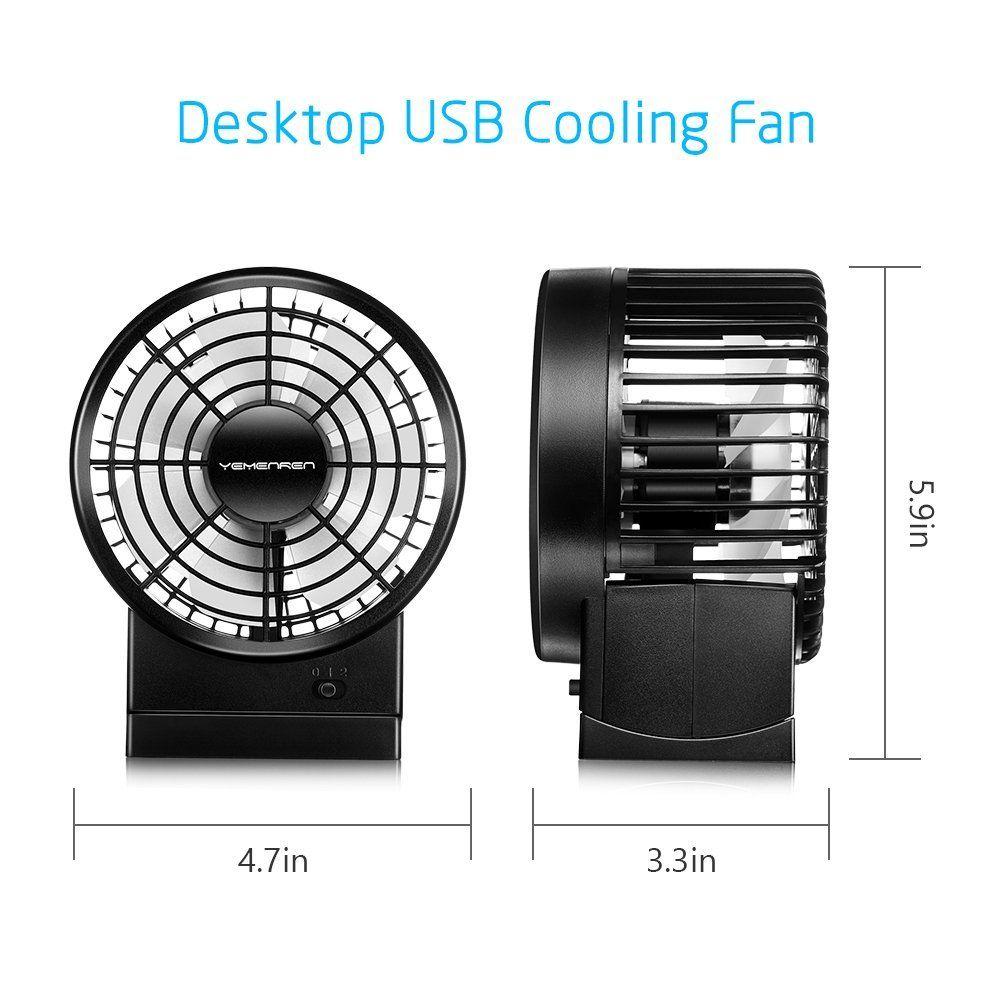 Yemenren Desk USB Fan with Coaxial Rotor Design