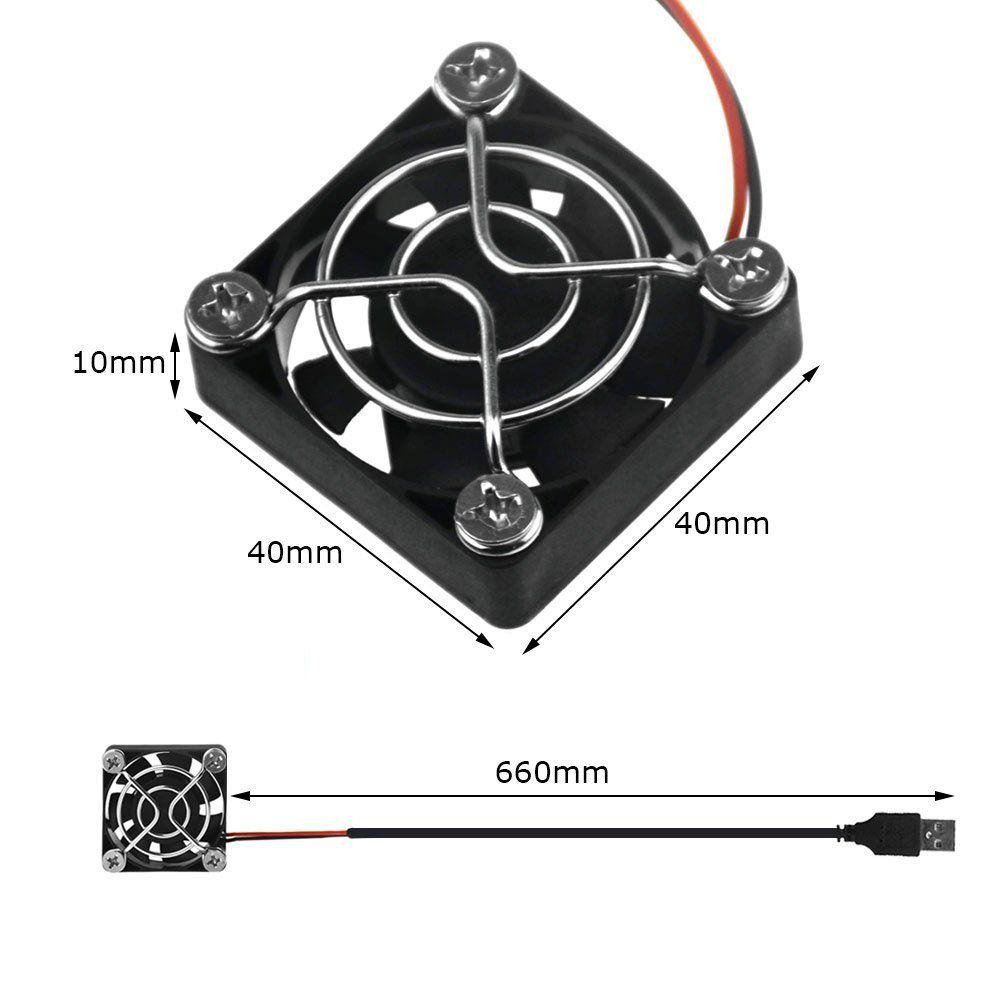 Yoosion 40mm Fan Quiet Mini 5v USB Fan -  PC Cooling 4cm USB Fan for Router, Computer, Watertank,Car